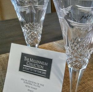 Waterford Crystal Peace Toasting Flutes/ pair